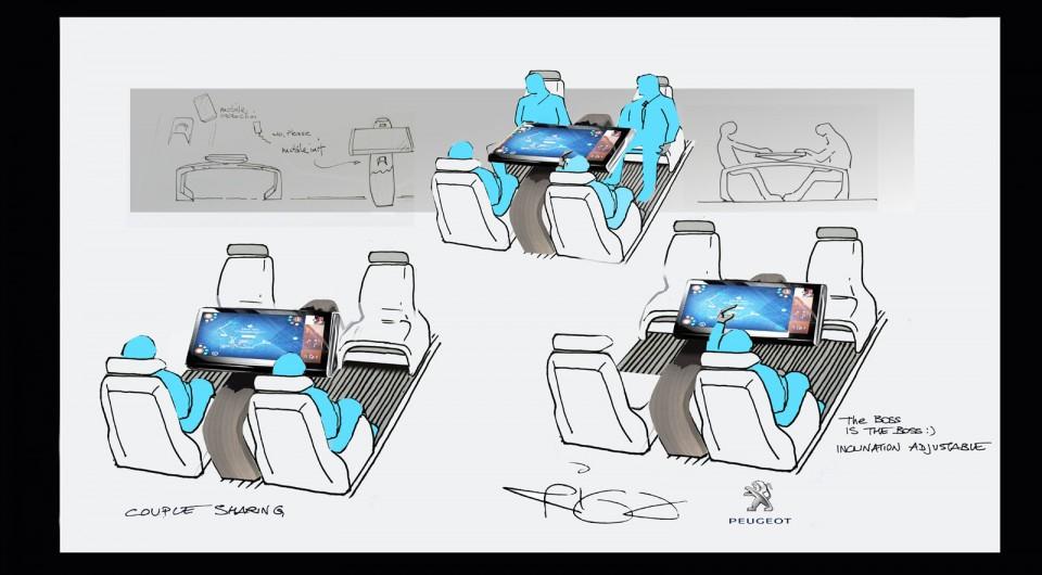 croquis officiel peugeot traveller i lab concept 2016 photos peugeot f line. Black Bedroom Furniture Sets. Home Design Ideas