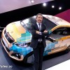 Photo Gilles Vidal et la Peugeot 108 Tattoo Concept - Salon de G