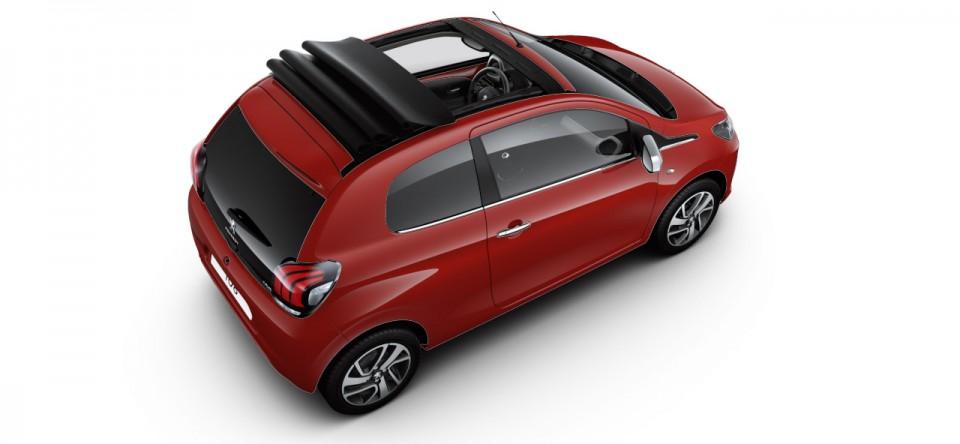 photo peugeot 108 i top cabrio rouge scarlet photos peugeot f line. Black Bedroom Furniture Sets. Home Design Ideas