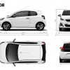 Dimensions Peugeot 108