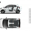 Dimensions intérieures Peugeot 108