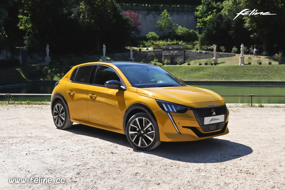 Photo 3 4 Avant Peugeot 208 Ii Gt Line Jaune Faro 2019