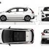 Dimensions extérieures Peugeot 3008 I phase 2 (2013) - 1-022