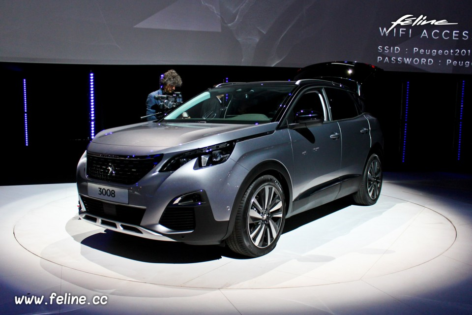 photo peugeot 3008 ii gris artense pr sentation. Black Bedroom Furniture Sets. Home Design Ideas