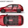 Dimensions intérieures Peugeot 308 GTi by Peugeot Sport