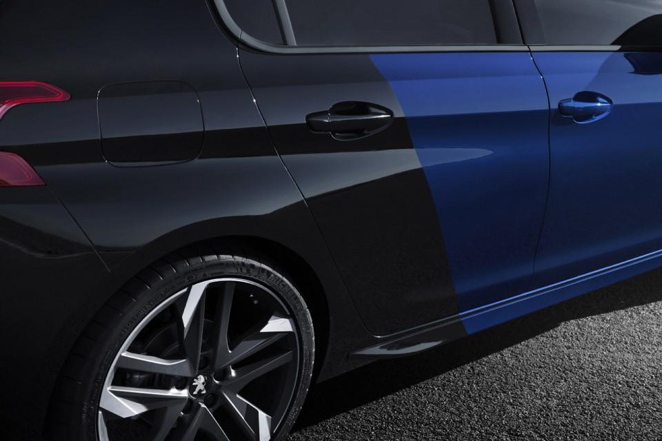 photo officielle coupe franche bleu magnetic peugeot 308 gti res photos peugeot f line. Black Bedroom Furniture Sets. Home Design Ideas