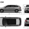 Dimensions Peugeot 308 SW break