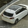 Photo aérienne Peugeot 308 II Allure Blanc Nacré -1-038