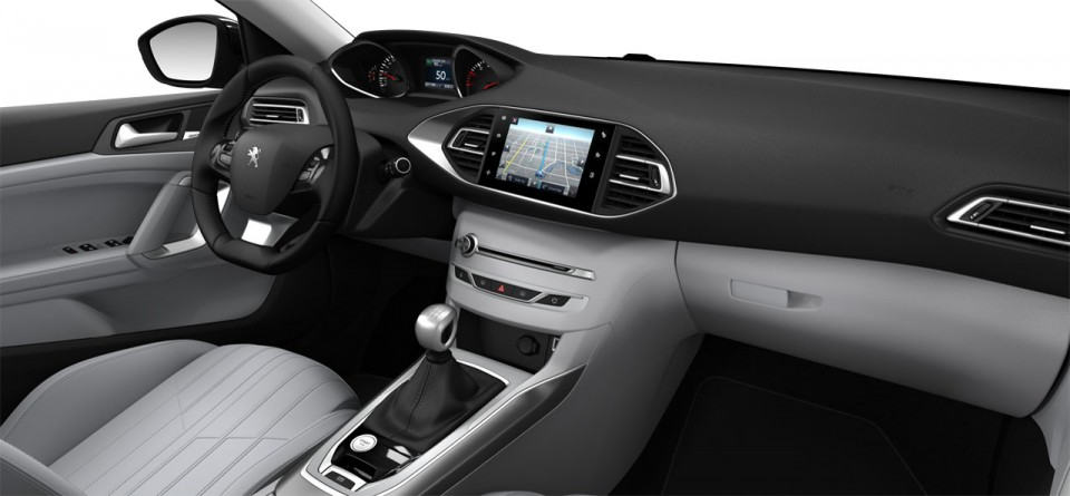 Int rieur cuir club nappa gu rande peugeot 308 ii photos for Interieur 3008 allure