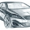 Photo croquis 3/4 avant Peugeot 308 II - 2-130