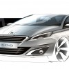 Photo sketch 3/4 avant Peugeot 308 II - 2-132